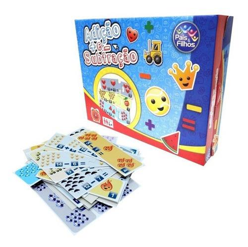 Imagem 1 de 9 de Brinquedo Jogo Escolar Ensina Adição Somar E Subtração Educa