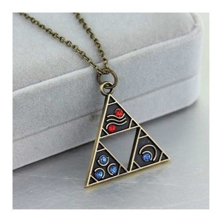 Collar Zelda Link Triangulo Trifuerza Fantasia Envio Gratis