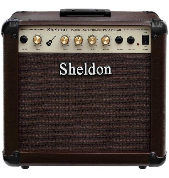 Amplificador Para Violão Sheldon Vl-3800 - 40w Rms Bivolt