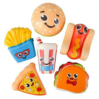 Kidsco 3.75 Slow Rising Squishy Fast Food Toys - 6-pc Assor