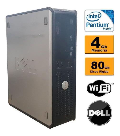 Desktop Slim Dell Optiplex Dual Core 4gb Hd 80gb Wifi