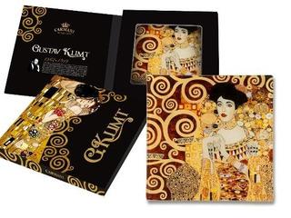 Plato En Cristal Cuadrado 15 Cm Adele Klimt