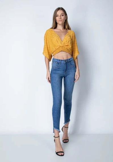 Calça Jeans Feminina Cropped Skinny Lança Perfume