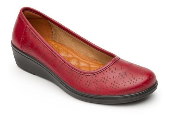 Zapato Baleriana Casual Dama 45602 Flexi Cereza