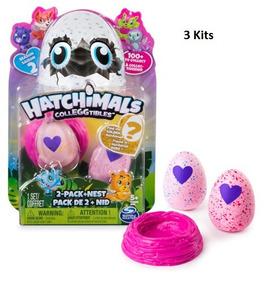 3 Kits Hatchimals Colleggtibles Season 2 Blister Com 2 Ovos
