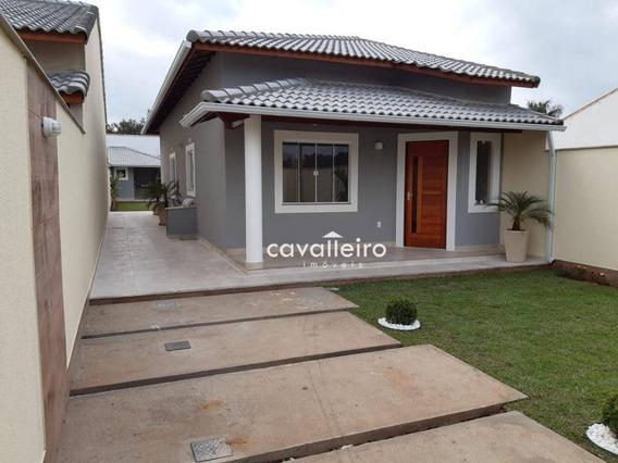Casa Com 2 Dormitórios Com Uma Suíte Ampla À Venda, Itaipuaçu - Maricá/rj - Ca3754