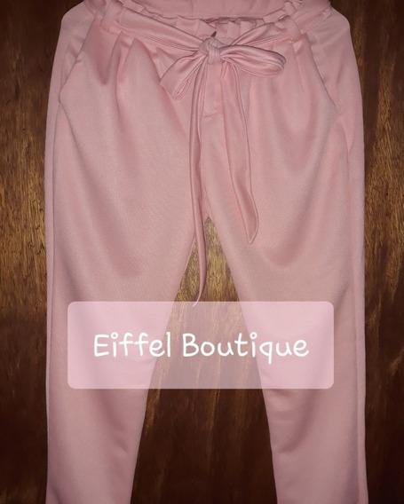 Pantalon De Dama Lazo Rufle De Vestir Joggers Elegante Moda