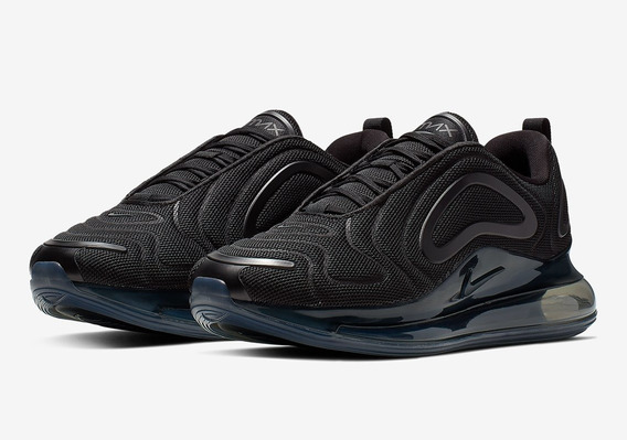 Zapatillas Nike Air Max 720 Black Mesh Negras Hombre