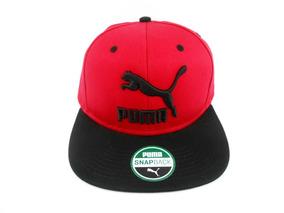 Boné Puma Colourblock Preto & Vermelho