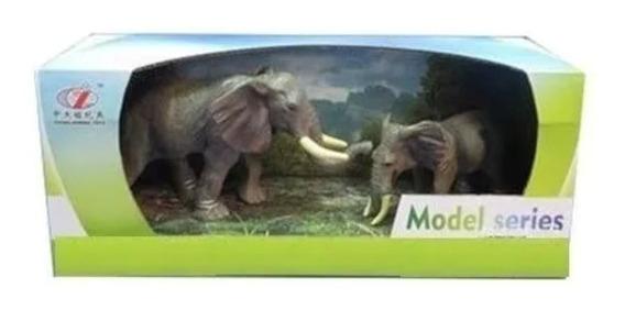 Set Animales Con Cría Tigre O Elefante