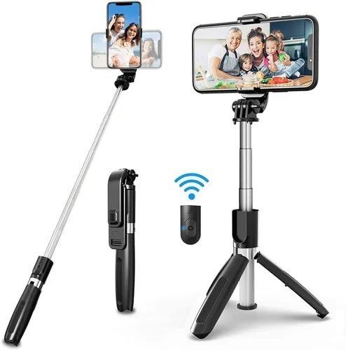 Imagen 1 de 5 de Selfie Stick L01 Trípode Monopod Celular Bluetooth
