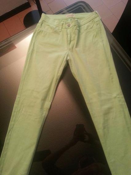 Jeans Verde Neon Usado!