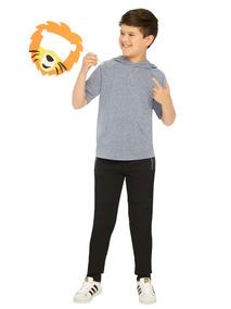 Playera Kids Niños Ilusion 8315 C/gorro Casual Pv-2019