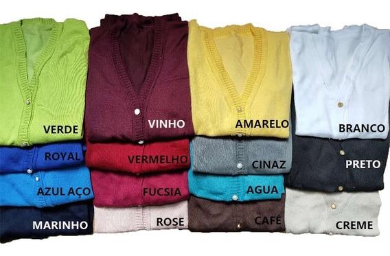 Blusa De Frio Feminina Casaco Cardigan Suéter Liso