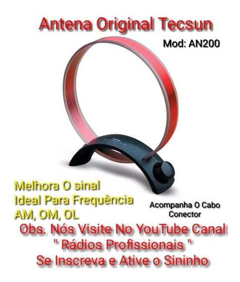 Antena Rádios Original Tecsun An200 Am, Om,ol Pronta Entrega