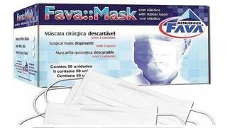 Máscara Cirúrgica Tripla Descartável Hospitalar Fava Mask