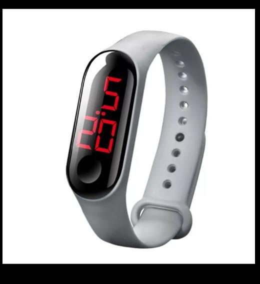 Relógio Led Silicone Unissex Várias Cores+sorteio Promoction