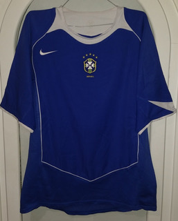 Jersey Brasil Segundo Uniforme Nike Año 2004 Talla Mediana