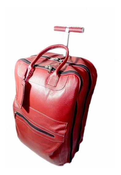 Bolso De Viaje De Cuero Con Carrito Art 884 Calzados Unión