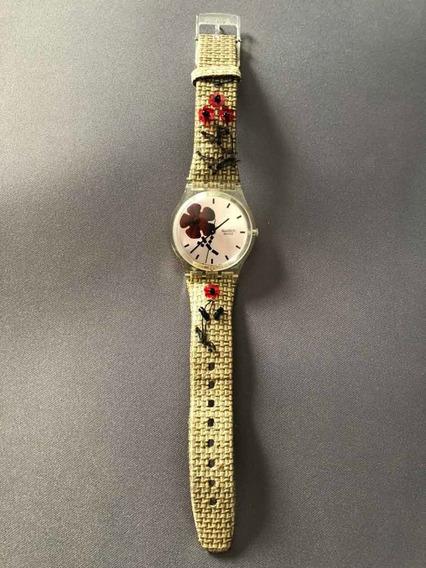 Relógio Swatch Transparente Ag 2005 Na Caixa Original