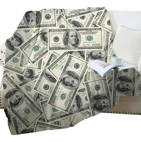 Imagen 1 de 8 de Manta Dinero Manta Billete De 100 Dólares Manta