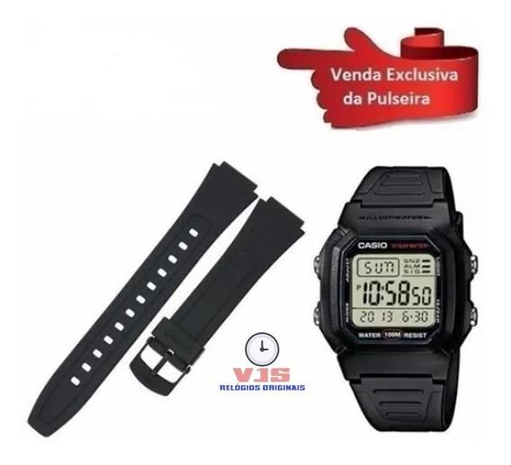 Pulseira Para Relógio Casio W 800 Silicone Nova Promoção