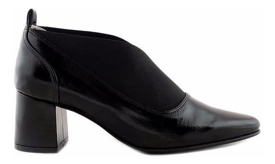 Zapato Cuero Mujer Vestir Negro Briganti Cerrado Mccz03349