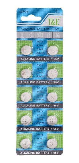 Bateria Alcalina G13 Cartela 10 Un.