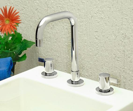 Torneira Banheiro Misturador Cromado Prisma Perflex