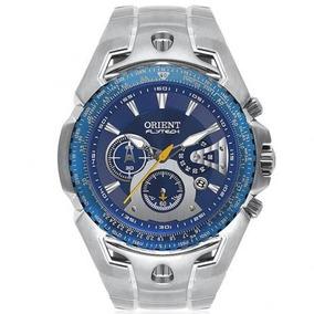 Relógio Orient Flytech Azul Tiânio Crônometro Garantia Nf