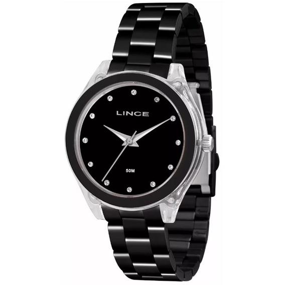 Relógio Lince Feminino Black Analógico Lrn4431p