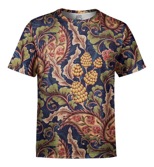Camiseta Masculina Vintage Floral Digital