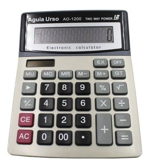 Calculadora Digital Eletrônica Display Grande 12 Digitos