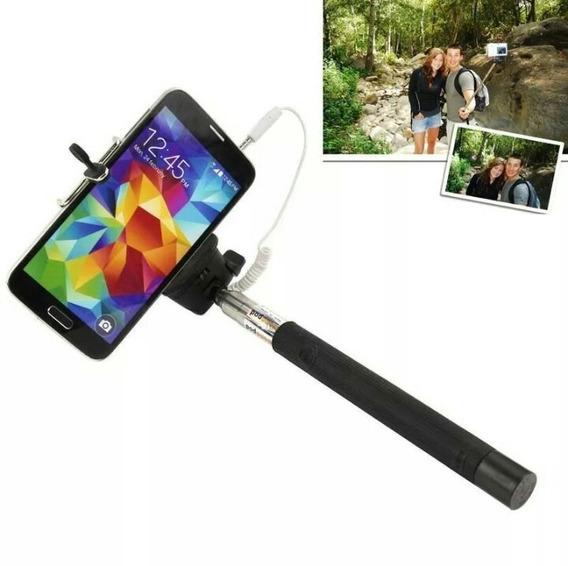 Pau De Selfie Monopod Bastão De Mão Adaptador Celular Kit C2