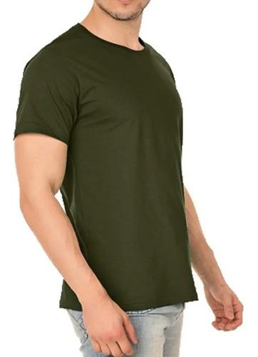 Camisa Verde Oliva De Algodão Atacado Masculino Lisa