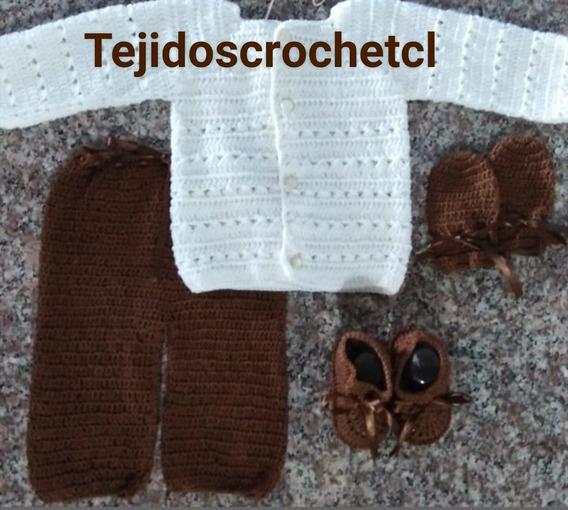 Conjuntos Tejidos Para Bebés Chaleco Y Pantaloncito