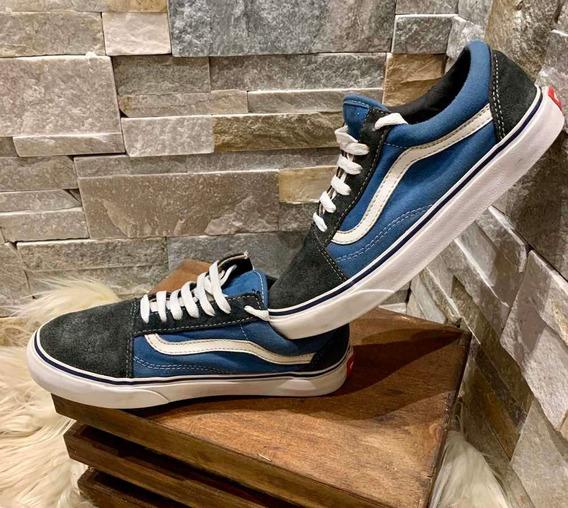 Zapatillas Vans Old School Poco Uso Buen Estado General!!