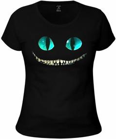 3b30804f72 Camiseta Feminina Estampa Gato - Camisetas Manga Curta no Mercado ...