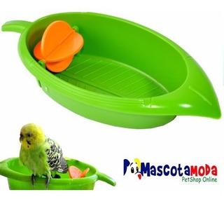 Bañera Juguete Para Pericos Canarios Finches Diseño De Hoja