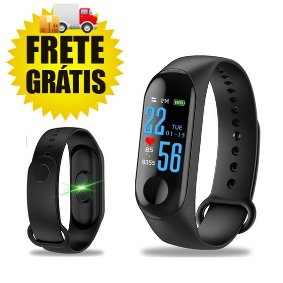 Pulseira Inteligente Smart Band M3 Plus Pulsômetro Cardíaco