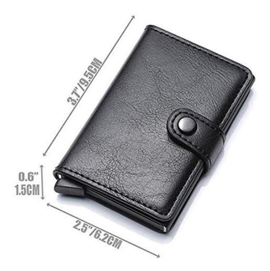 Porta Tarjeta Credito Holder Billetera Business Rfid Boton