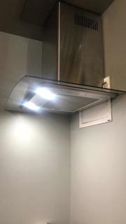 Troco Coifa Aço Inox E Vidro 220 Luz De Led P Cozinha Ilumin