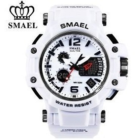 Relógio Smael Branco S-shock Original Ultra Resistente Sport