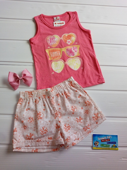 Kit 2 Conjuntos Infantil Feminino 1 Ano + Brinde Promoção