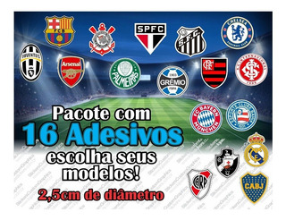 Adesivos Futebol 2,5cm (16 Unidades)