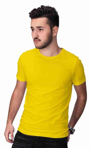 Kit 5 Camisetas Lisas Masculinas 100% Algodão Cores Diversas