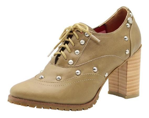 Zapatos Mocasines Mujer Cuero Oficina Taco Vison Leblu 837