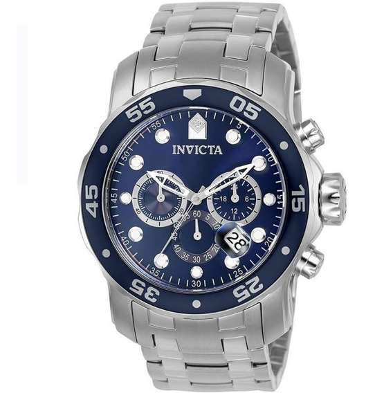 Relógio Invicta 0070 21921 Aço Prata Most. Azul