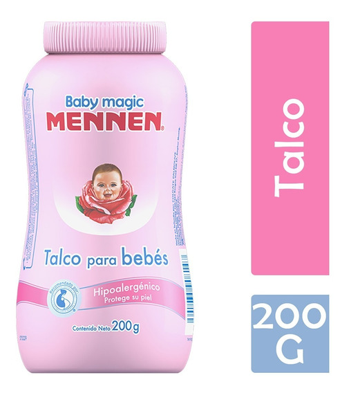 Mennen Baby Magic Talco, 200 G, Rosa