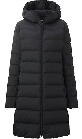 Campera Tapado Uniqlo Ultra Light Down Coat Nuevo Negro